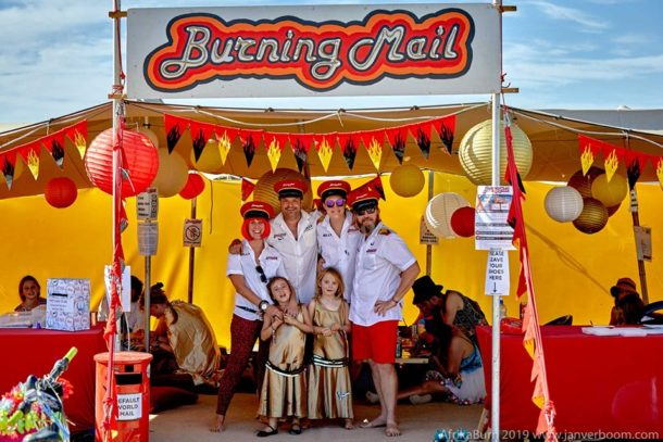 Photo of the Burning Mail theme camp by Jan Verboom